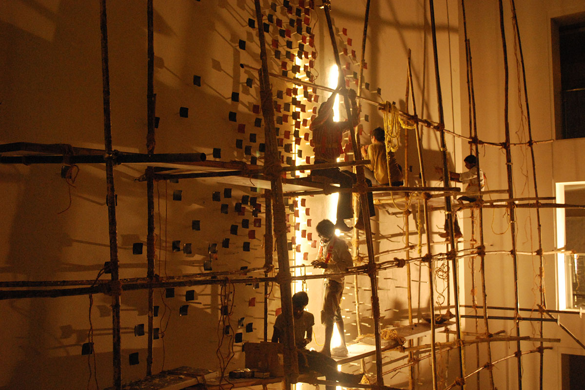 """""""The Seed"""": WIP image of installation at Le Meridien"""