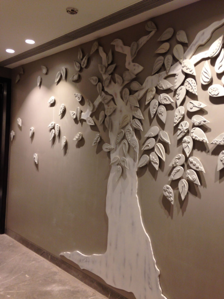 The tree mural in ceramic wood rekha goyal for 3d clay mural painting