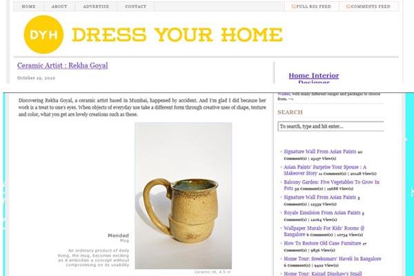 Studio Potter Rekha Goyal, written about by a lifestyle blogger