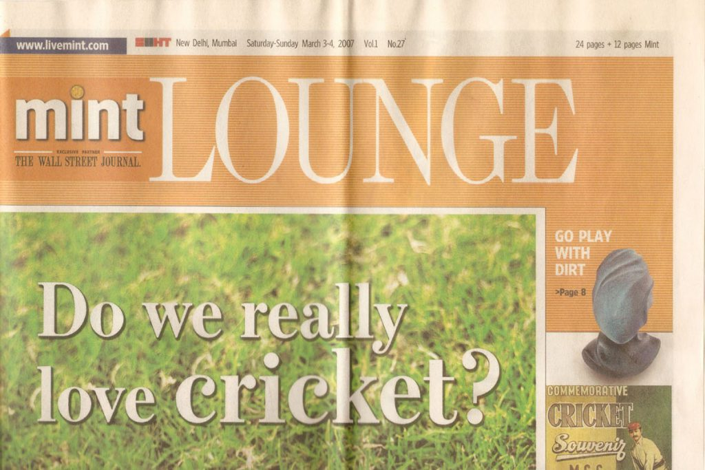 Ceramic Artist Rekha Goyal featured on the Cover of the Mint, WSJ