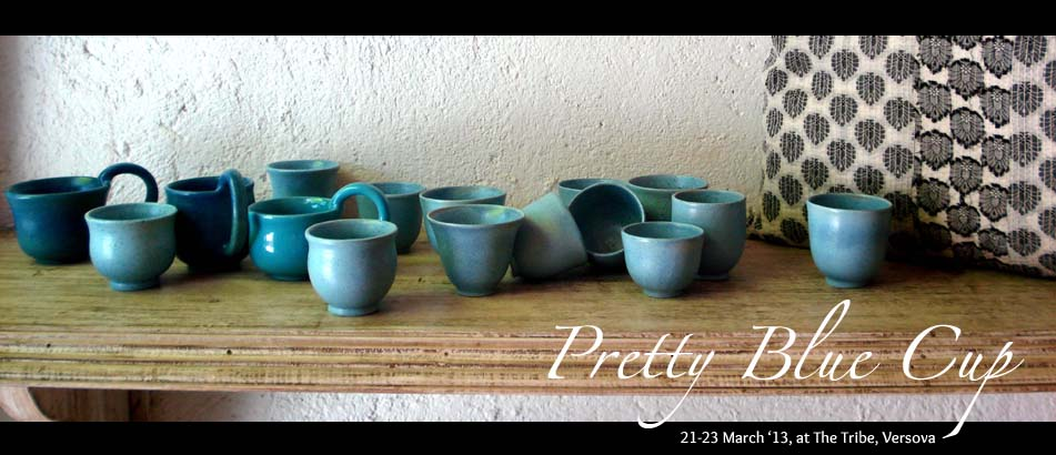 Pretty Blue Cup by Studio Potter Rekha Goyal