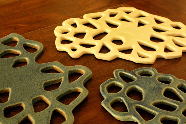 Trivets inspired by the lotus root
