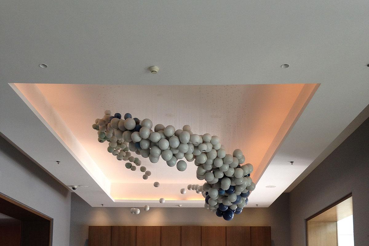 Holon, installation for Le Meridien by Rekha Goyal