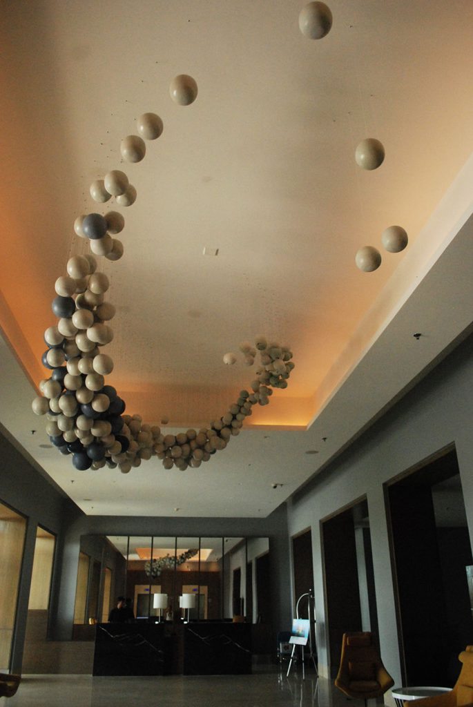 Holon, installation for Le Meridien by Rekha Goyal