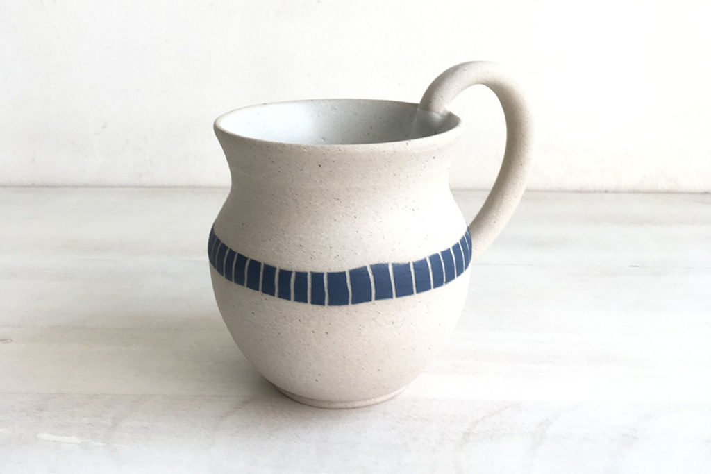 "Handmade mugs in ceramic stoneware - ""Equilibrium"" by Mumbai-based studio potter Rekha Goyal"