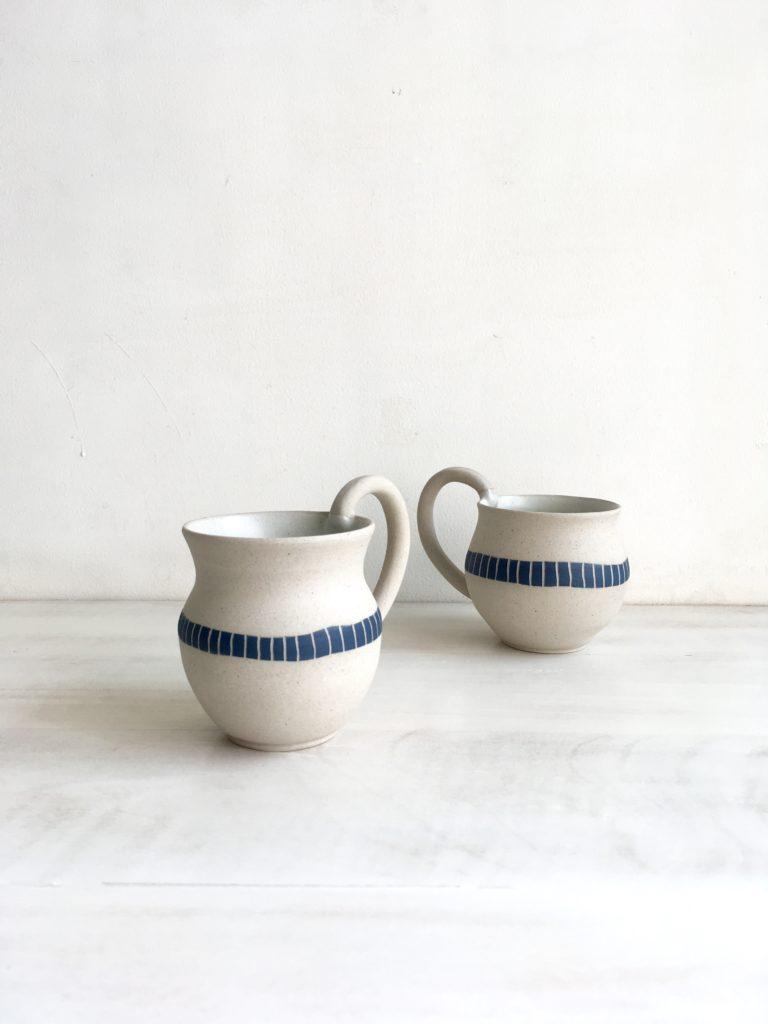 """Handmade mugs in ceramic stoneware - """"Equilibrium"""" by Mumbai-based studio potter Rekha Goyal"""